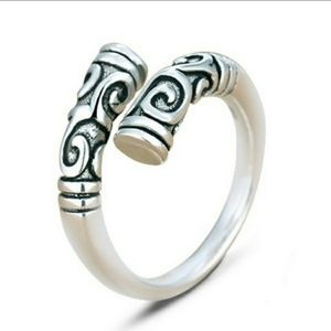 BOHEMIAN .925 SOLID STERLING SILVER ADJ SIZE RING